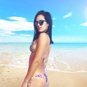 Elegant winter scarf  Color-Dark-green
