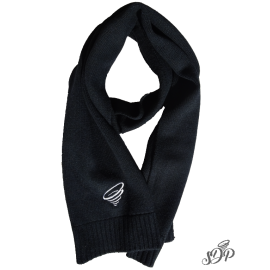 Black elegant winter scarf