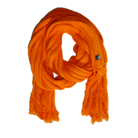 Orange extra long winter scarf