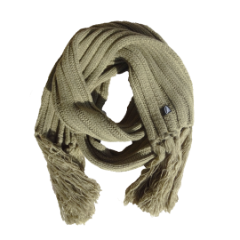 Taupe extra long winter scarf