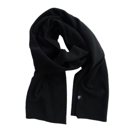 Black microfleece scarf