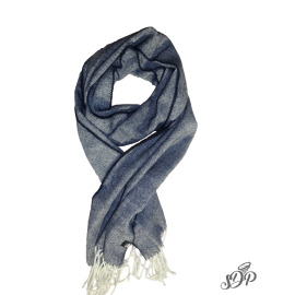 Navy woven scarf