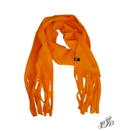 Orange kids microfleece scarf