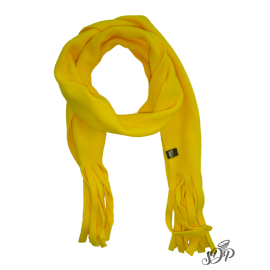 Yellow kids microfleece scarf