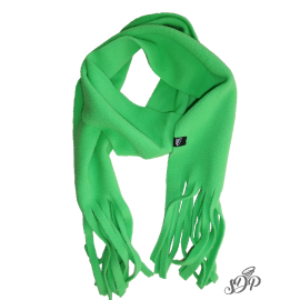 Green kids microfleece scarf
