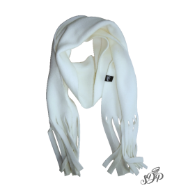 White kids microfleece scarf