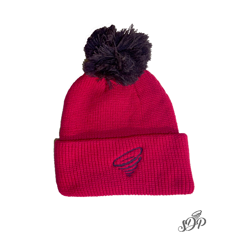 2a28c681e7b4a Winter hat with brim and pompon