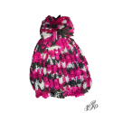 Pink everyday winter hat with pompon