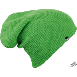 Green long winter hat
