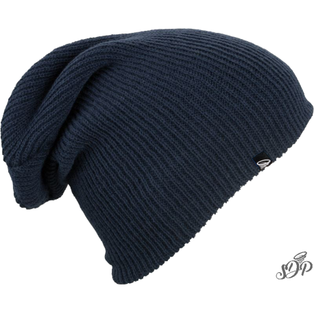 Navy long winter hat