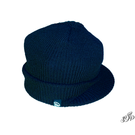 Navy winter hat with peak