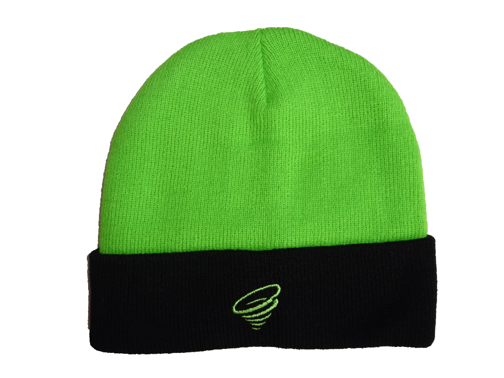 Green winter hat with black brim 86cf7d0cc63