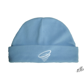 Light blue winter microfleece hat