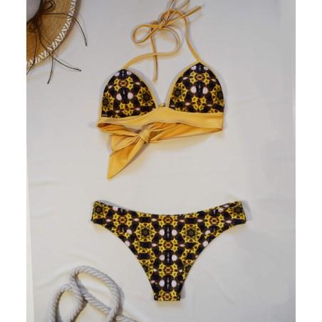 Orange winter hat with black brim