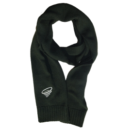Dark green elegant winter scarf