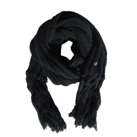 Black extra long winter scarf