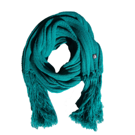 Emerald extra long winter scarf