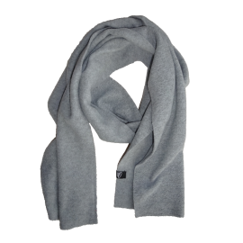 Light grey microfleece scarf