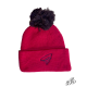 Pink winter hat with pompon