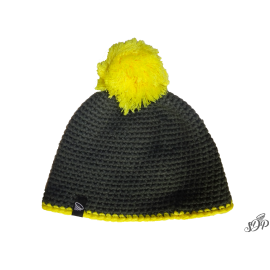Graphite handmade winter pompon hat