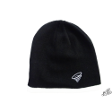 Black beanie with white contrasting border