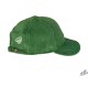 Green winter hat with peak and earflaps