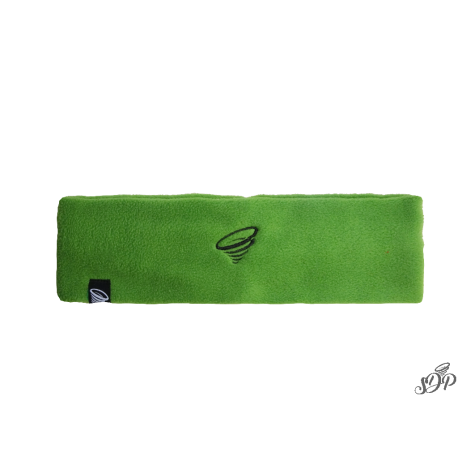 Green winter microfleece headband