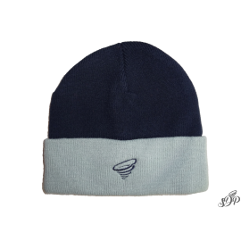 Navy winter hat with grey brim