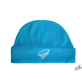 Aqua blue winter microfleece hat